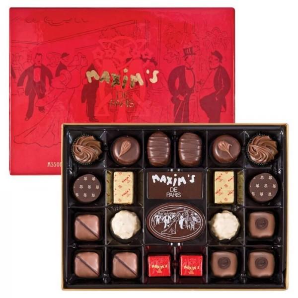 Schokoladen-Geschenkset Maxim's de Paris 44 exklusive Schokoladen und Pralinen 430g