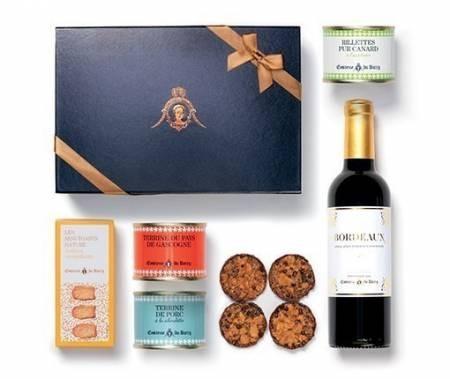 Geschenkset Auswahl von Terrinen mit Schokolade und Rotwein 375 ml