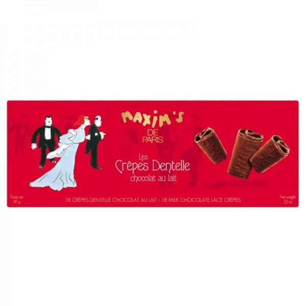 Crêpes Dentelles - 18 Waffeln umhüllt mit Milchschokolade - 90g