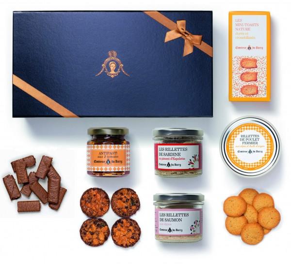 Geschenkset Variation von Rillettes, Antipasti und Süßigkeiten aus Frankreich