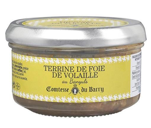 Terrine mit Geflügelleber und Banyulswein 140g