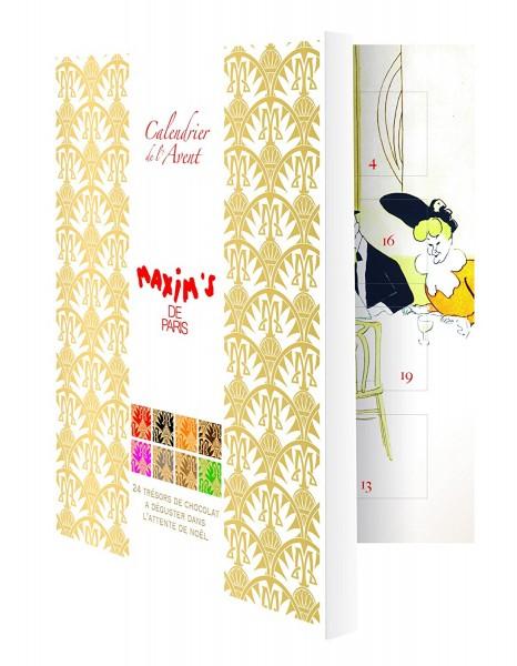 Adventskalender gefüllt mit Schokoladenspezialitäten aus Frankreich 120g